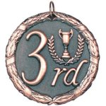3rd Place Bronze Tennis Trophy Awards