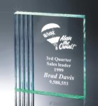 Fluted Side Acrylic Award Traditional Acrylic Awards