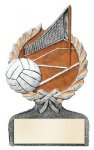Multi Color Sport Resin Figure -Volleyball Wreath Awards